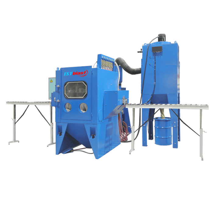 Inline Sandblast Cabinet with Fixed Head Nozzles