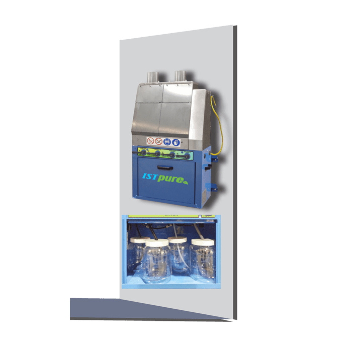 GWM 100 TWIN – Wall-Mounted Dual-Station Manual Spray Gun Cleaner