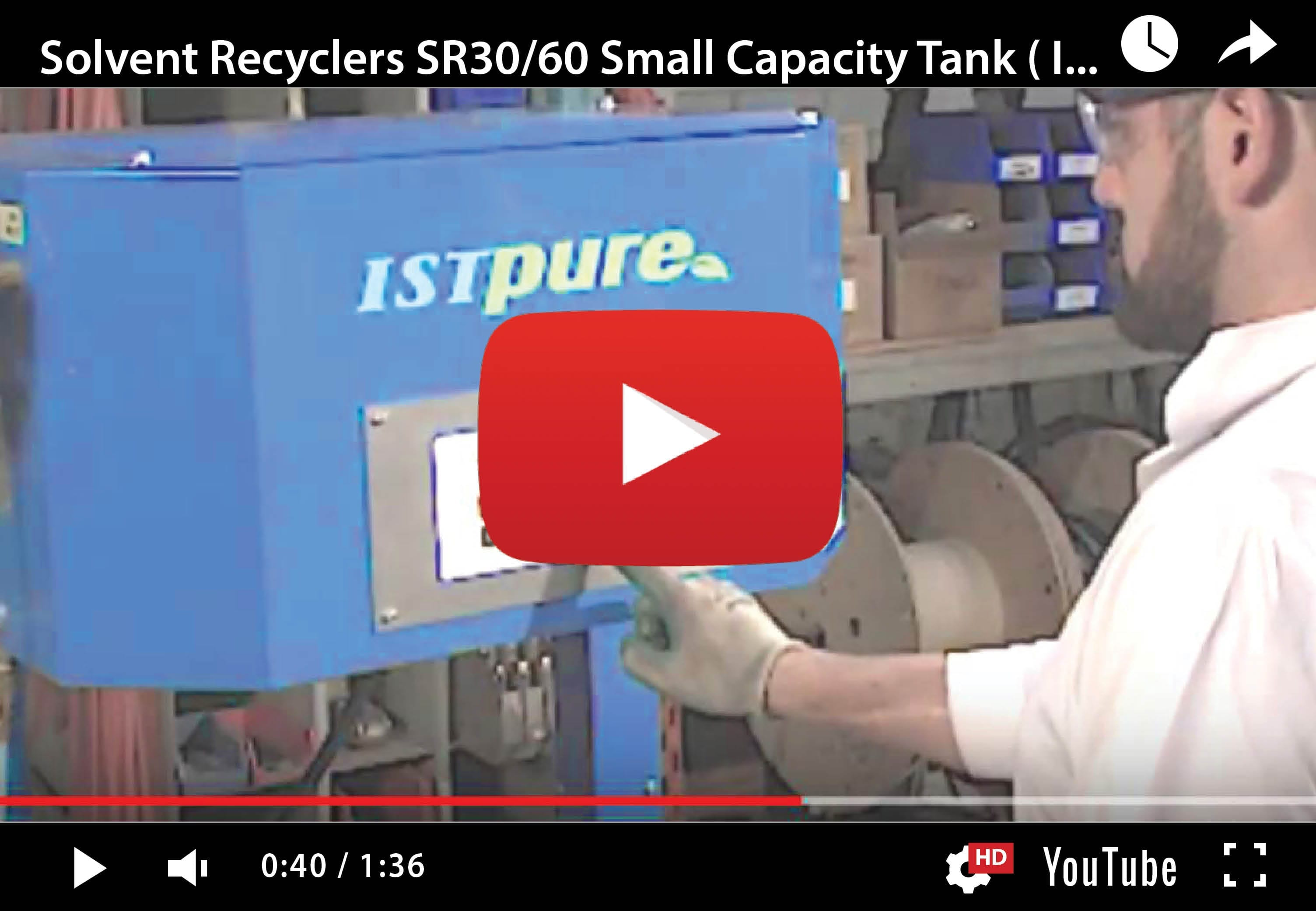 SR30-60 – Small Capacity Batch-Type Solvent Recyclers