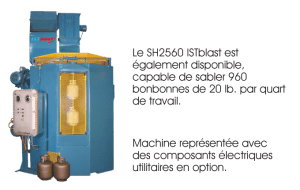 Option - Sableuse à suspension indexée SH 2560 - ISTblast