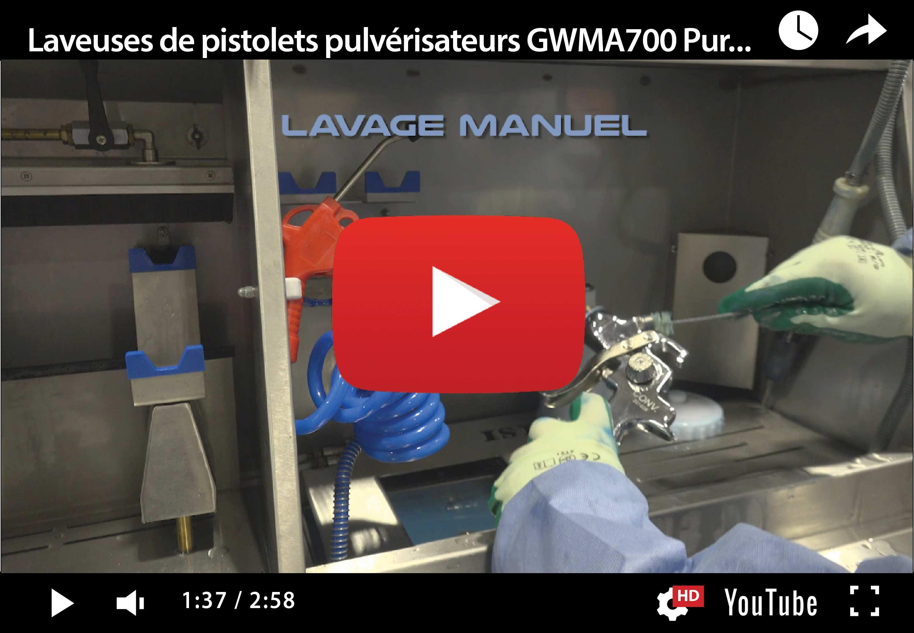 GMWA 700 PURETECH – Laveuse de pistolets pulvérisateurs hybride