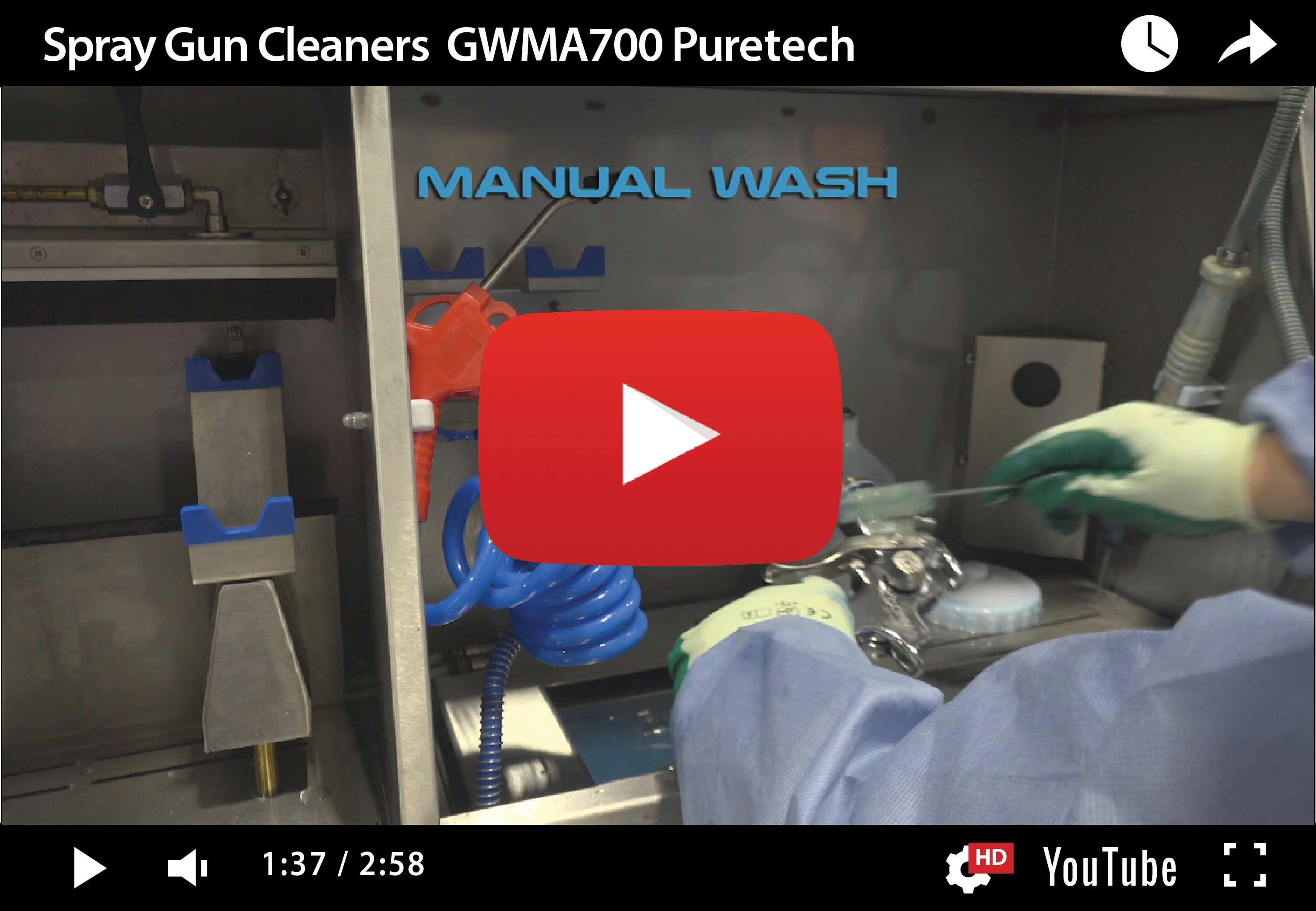 GMWA 700 Puretech – Hybrid Spray Gun Cleaner