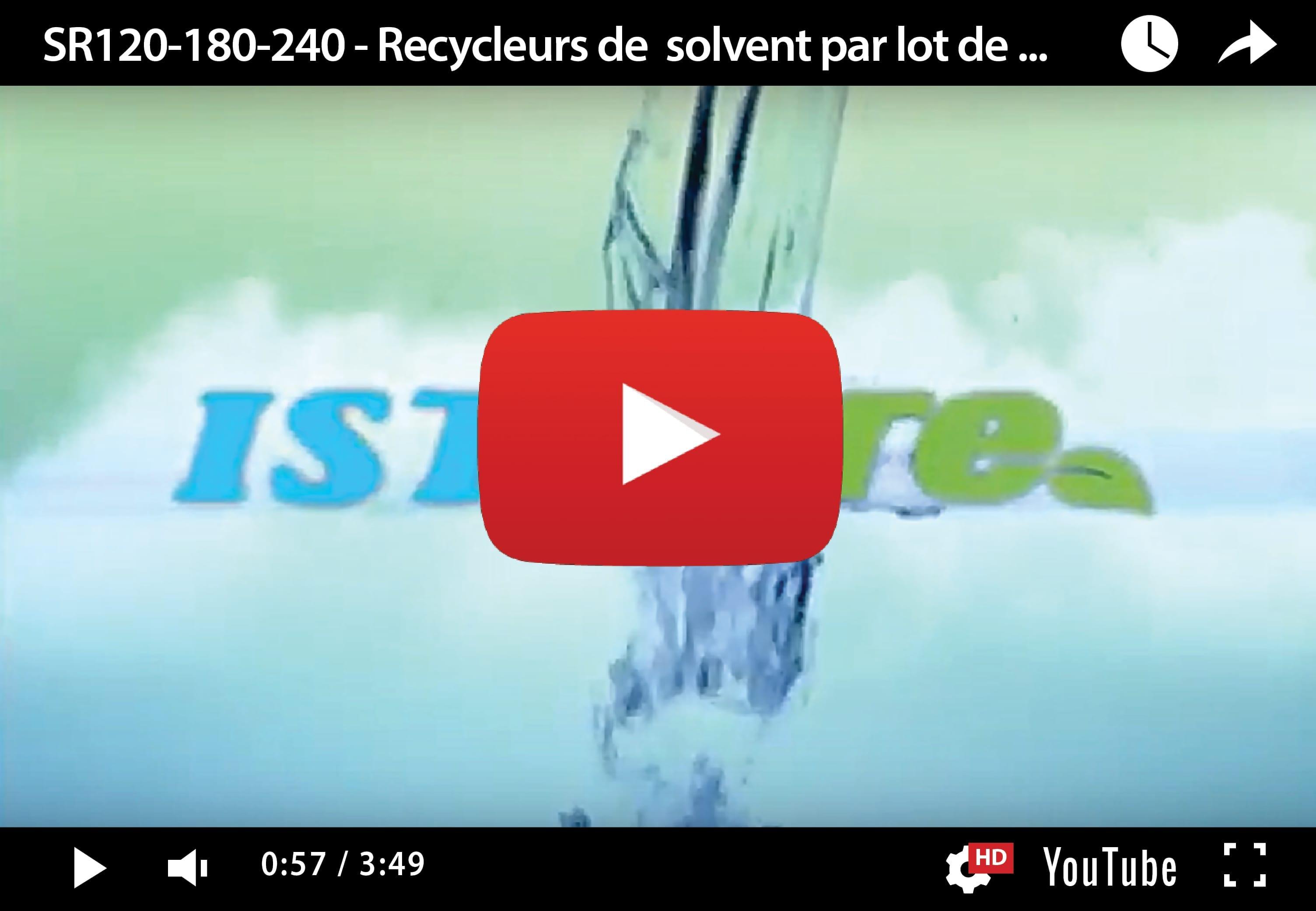 SR30-60 – Recycleurs de solvants par lot de petite capacité