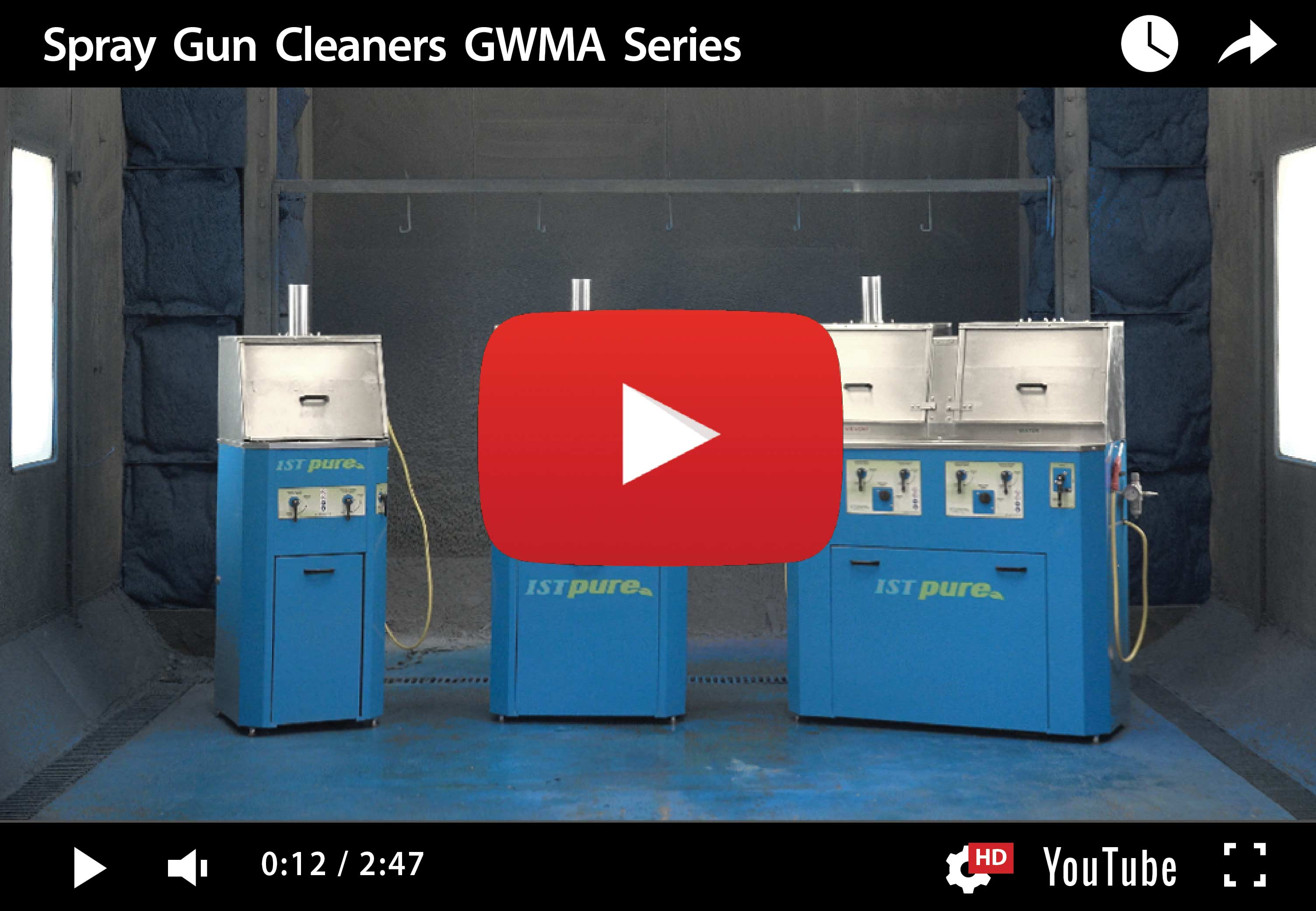 GWM 100 TWIN – Laveuse de pistolets pulvérisateurs double station murale manuelle