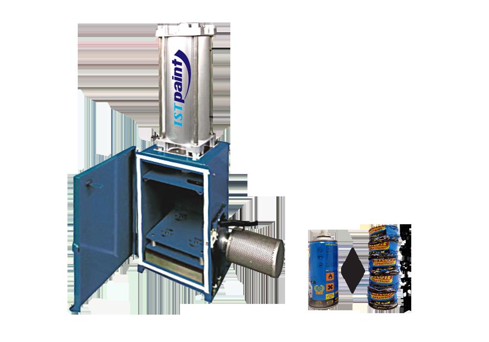 Série IAC – Compacteurs de contenants aérosol