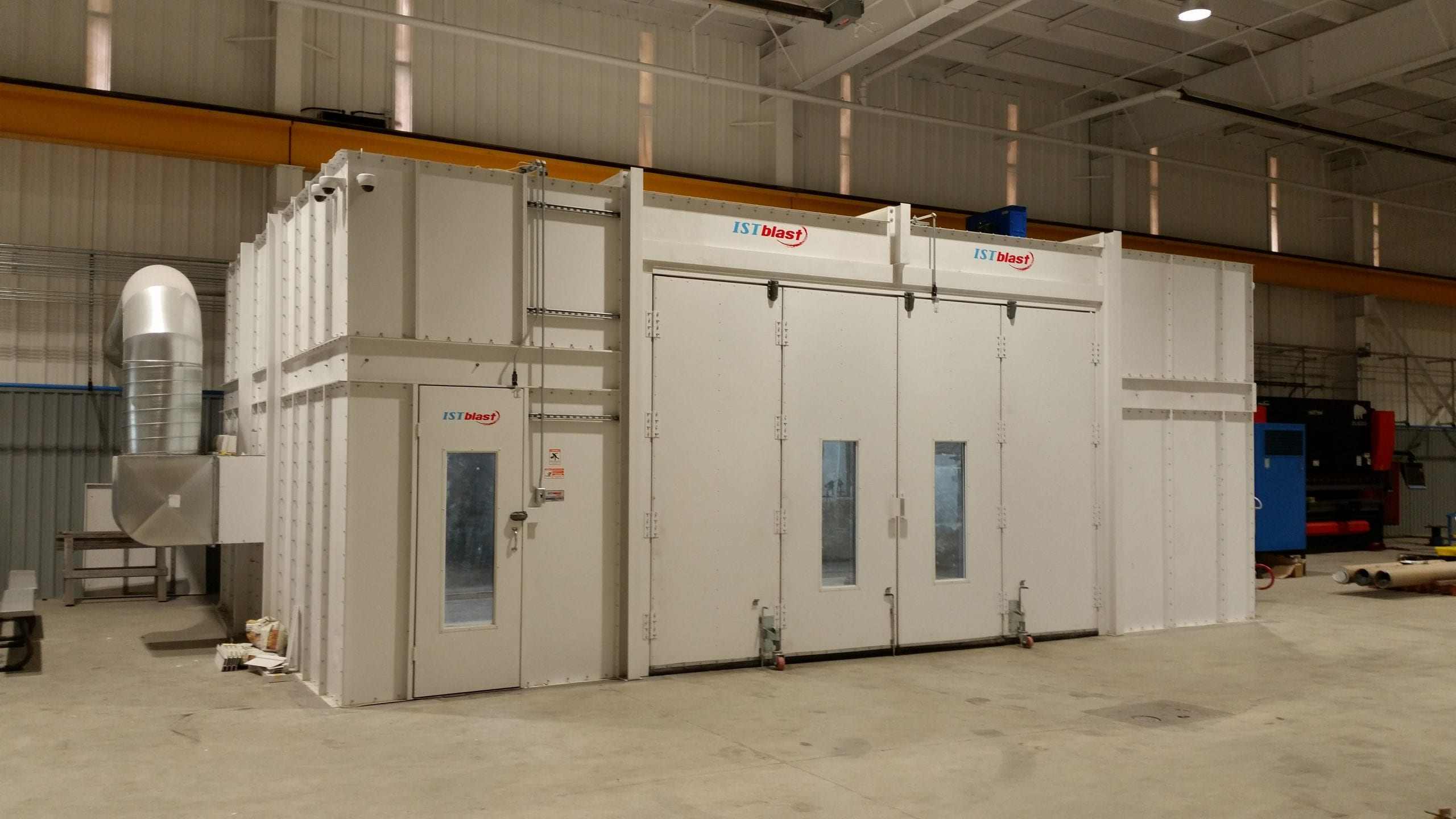 Blast Booth with Bifold Door Closed