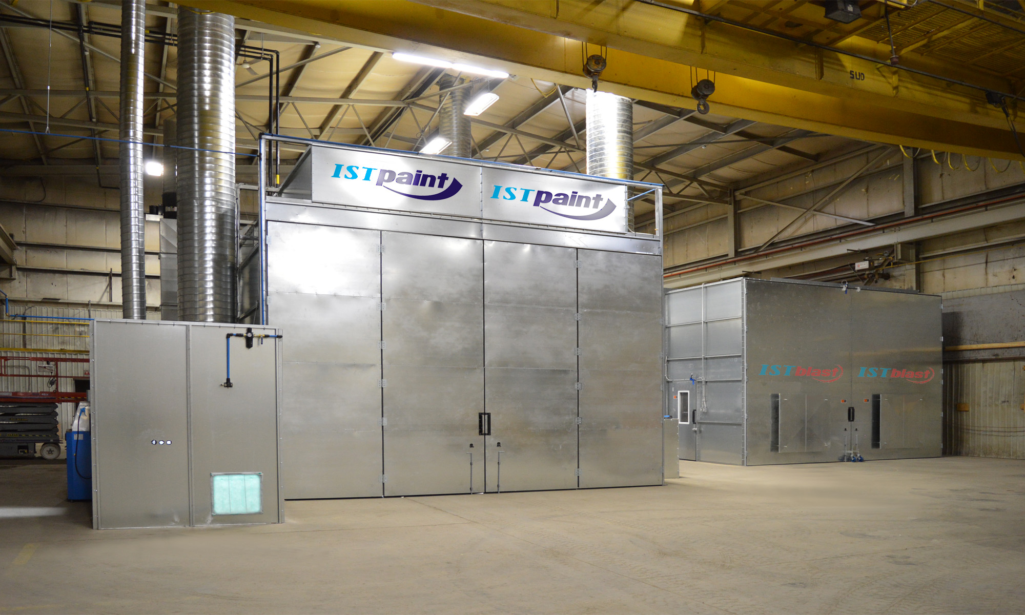 Sandblast Booth and Spray Booth Integrated System