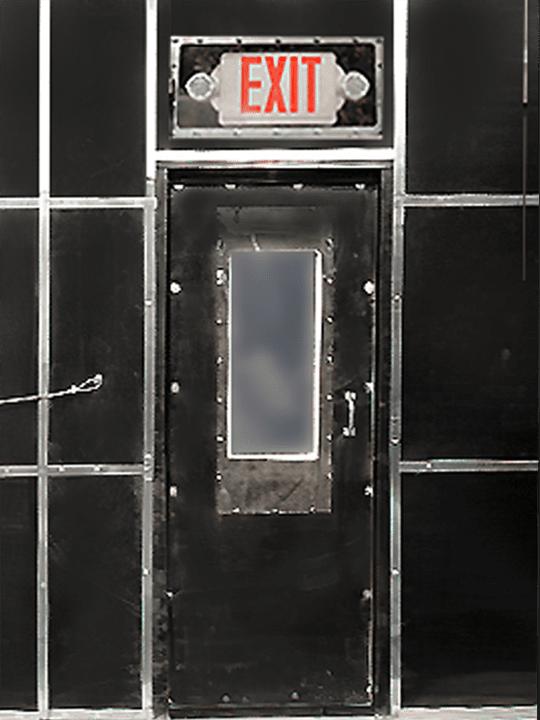 Personnel Man Door for Inside the Sandblast Room