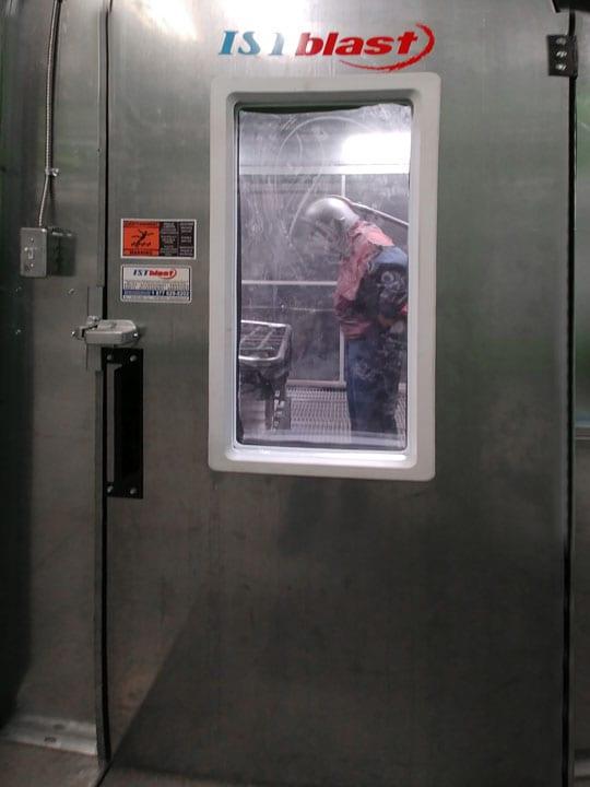 Personnel Man Door for Outside the Sandblast Room