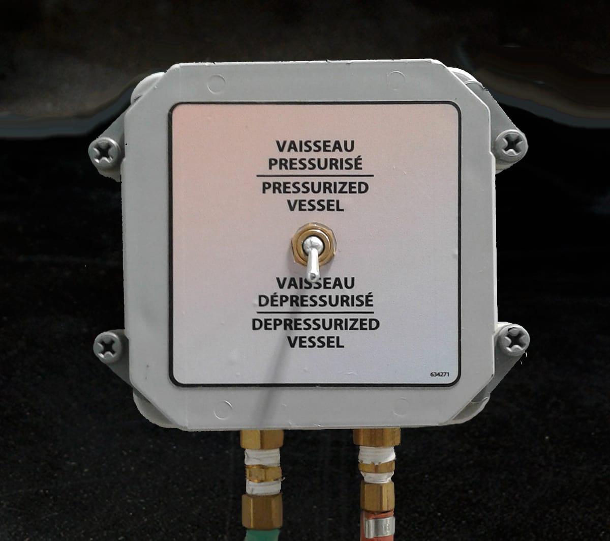 Remote Depressurization Switch for Sandblast Booth