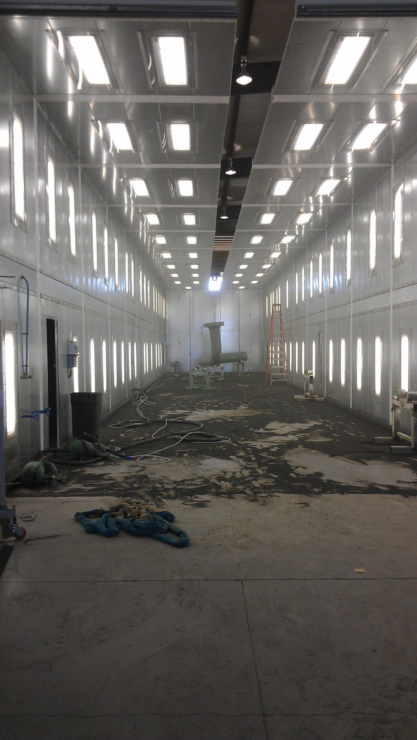 Large Sandblast Facility - Dirty Floor