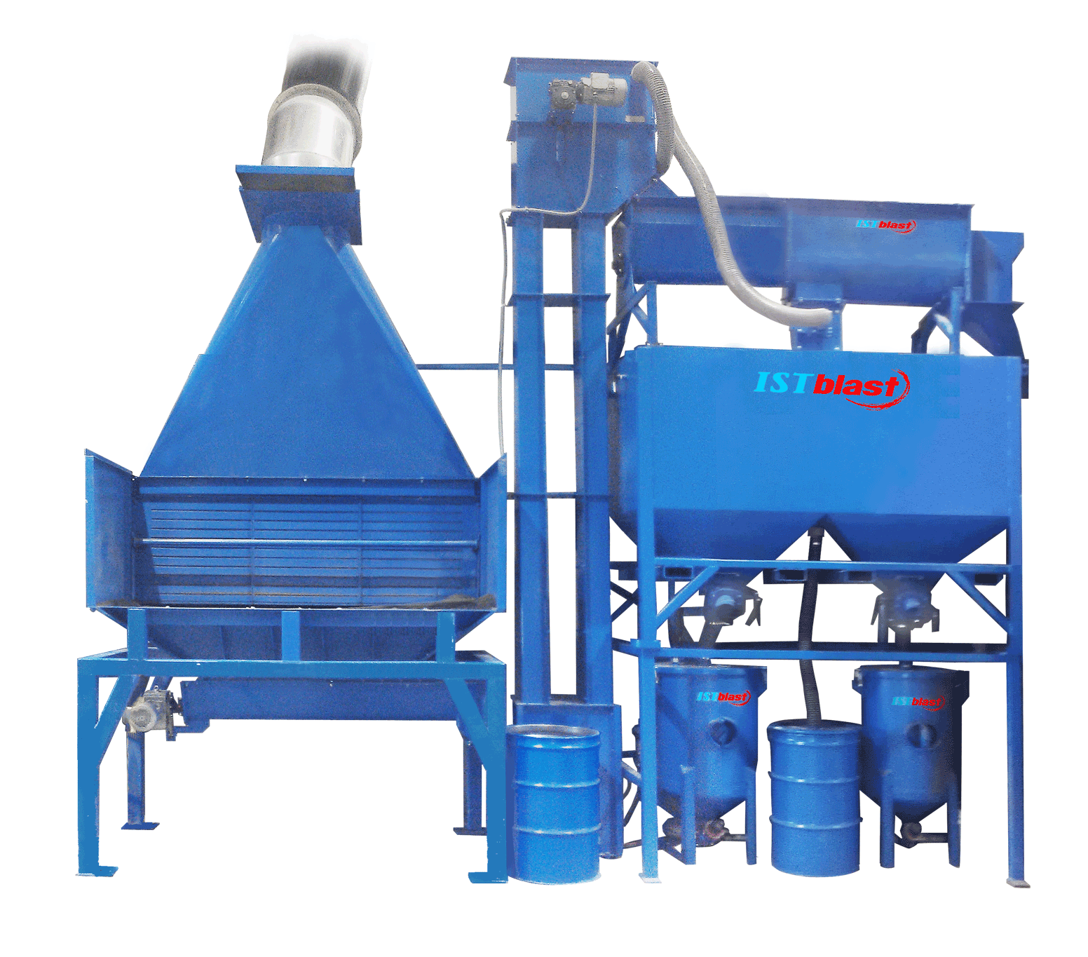 Mechanical Loading - Mechanical Abrasive Recovery System for Sandblast Booth - ISTblast