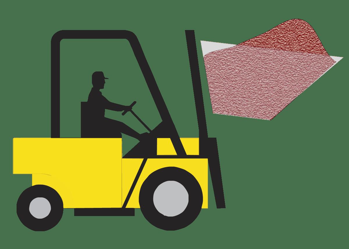 Mechanical Loader Loading Abrasive Media