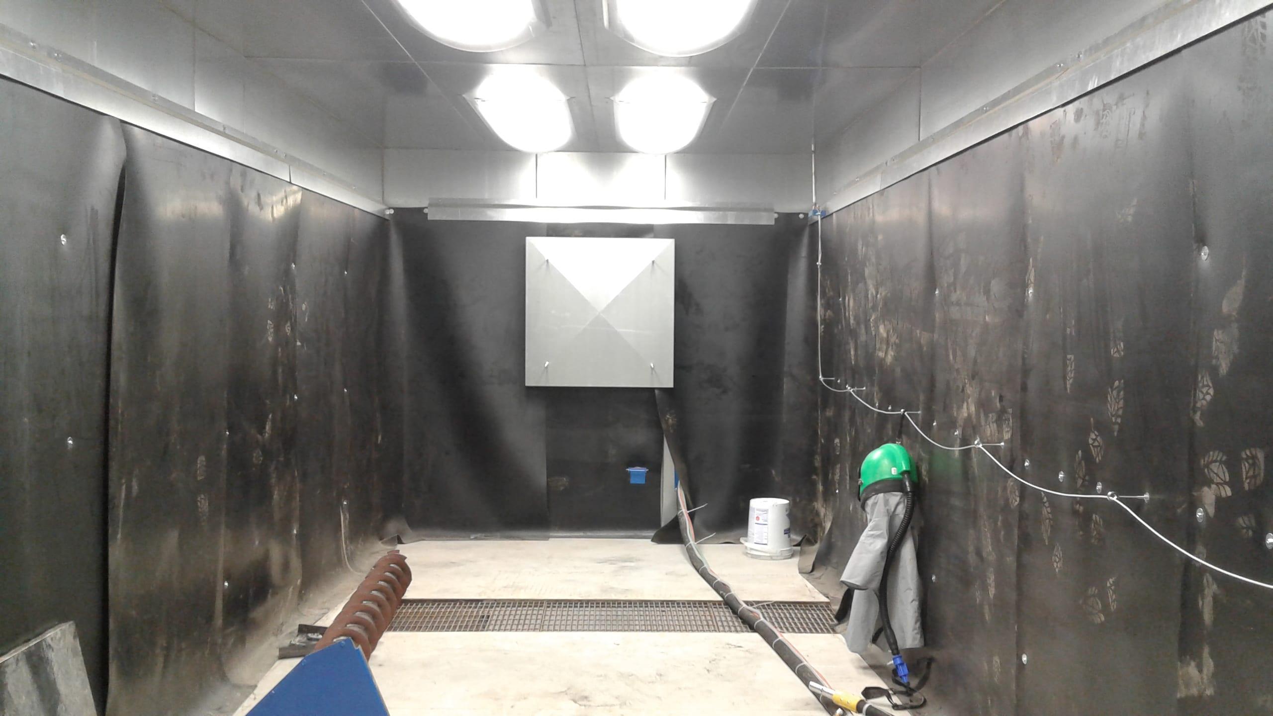 Sandblast Booth Air Outlet Plenum