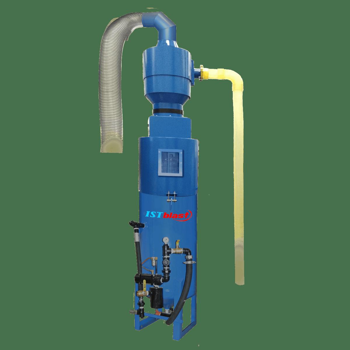 Sandblast Pot with Storage Hopper & Cyclonic Separator Assembly - ISTblast